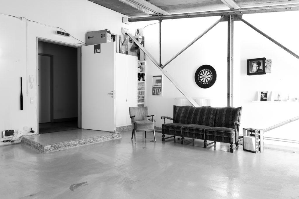 Sitzecke bei den offenen Ateliers