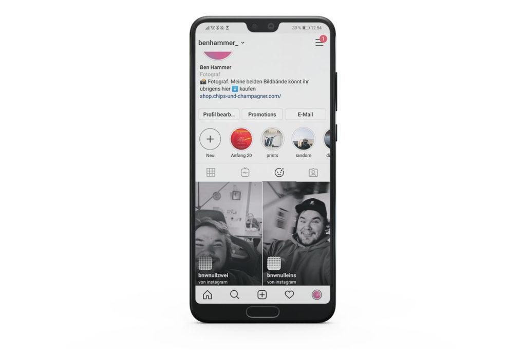 Schwarz-Weiß Filter für Instagram